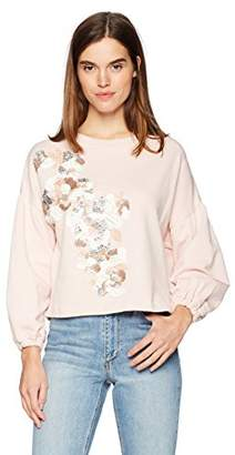 Parker Women's Berniece 3/4 Sleeve Embellished Sweatshirt