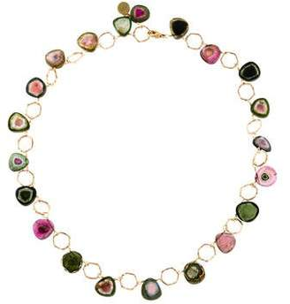 Dominique Cohen 18K Parti-Colored Tourmaline Necklace