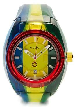 Sync striped rubber watch