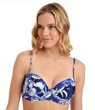 Cyn And Luca Women's Cyn and Luca Hibiscus Printed Push-Up Bikini Top
