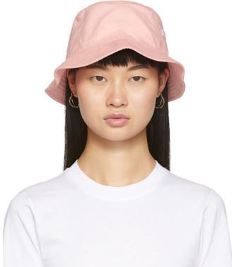 Acne Studios Pink Face Bucket Hat
