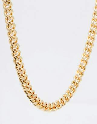 Asos Design DESIGN midweight chain in gold tone