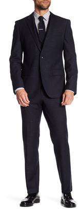 HUGO BOSS Hattrick Final Two Button Notch Lapel Three Piece Trim Fit Suit $1,045 thestylecure.com