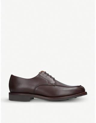 SANDERS Split-toe leather derby shoes