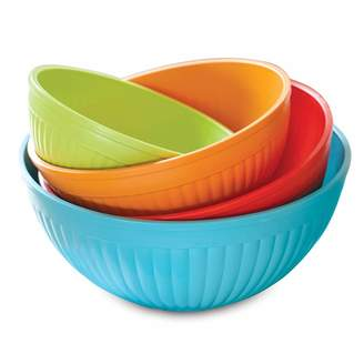 Nordicware Prep & Serve 4-pc. Multicolor Mixing Bowl Set