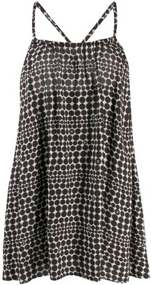 Chanel Pre-Owned 2010's polka dotted loose dress