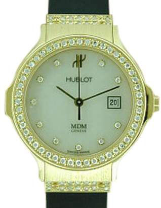 Hublot 18K Yellow Gold Rubber Strap Watch