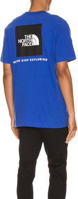 The North Face Red Box Tee in TNF Blue   FWRD