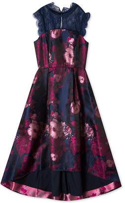 Rare Editions Big Girls Floral Jacquard Maxi Dress