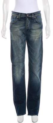 Nudie Jeans Mid-Rise Straight-Leg Jeans
