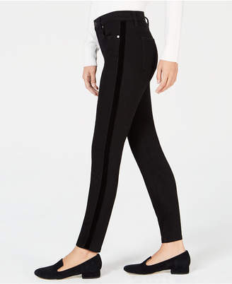 Maison Jules Side-Stripe Skinny Jeans, Created for Macy's