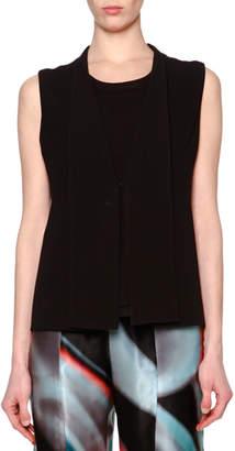 Giorgio Armani Fold-Over-Collar V-Neck Gilet