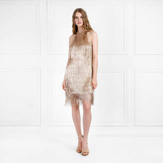 Rachel Zoe Nova Metallic Fringe Mini Dress