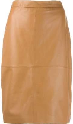 FEDERICA TOSI high waisted leather skirt