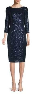 Adrianna Papell Short Sequin Knee-Length Dress