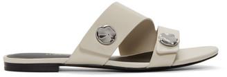 3.1 Phillip Lim Grey Drum Slide Sandals