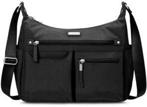 Baggallini Classic Anywhere Large Hobo Bag with RFID Phone Wristlet