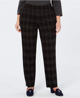 Charter Club Plus Size Plaid Pants