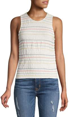 Madewell Smocked Cotton Tank Top