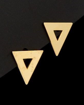 Italian Gold 14K Polished Triangle Earrings