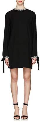 Prada Women's Jeweled Tech-Cady Cocktail Dress