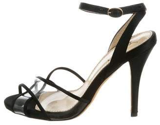 Saint Laurent High-Heel Crossover Sandals