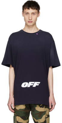 Off-White Blue Wing Off Logo T-Shirt