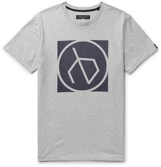 Rag & Bone Printed Mélange Cotton-Jersey T-Shirt