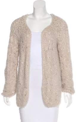Nina Ricci Long Sleeve Open Knit Cardigan