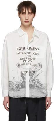 Christian Dada Off-White Nobuyoshi Araki Edition Flower Text Print Shirt
