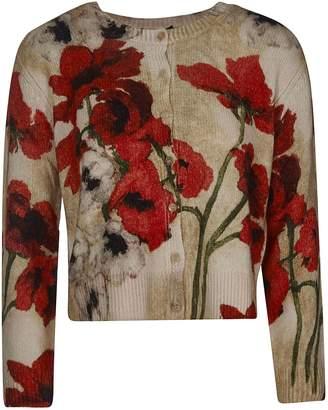 Samantha Sung Cropped Floral Cardigan