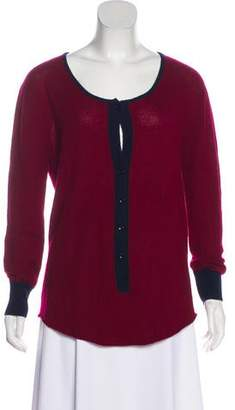 Raquel Allegra Rib-Knit Trim Cashmere Sweater
