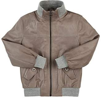 Nupkeet Leather Bomber Jacket