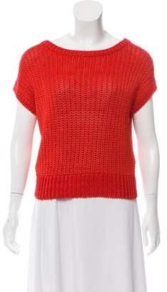 Ralph Lauren Short Sleeve Crochet Knit Sweater