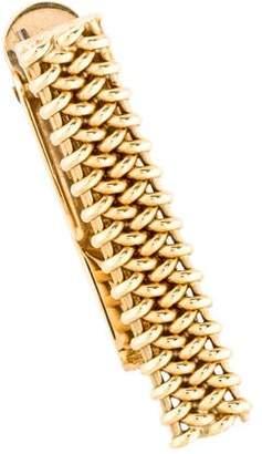 Tie Clip 14K Woven Tie Clip