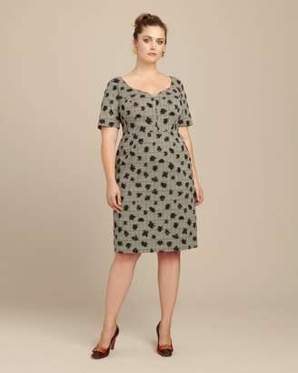 Jason Wu Collection Floral Plaid Sweetheart Day Dress
