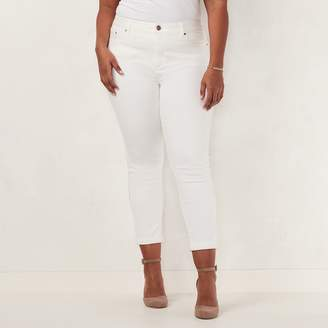 Lauren Conrad Plus Size Love, Lauren Cuffed Ankle Skinny Jeans