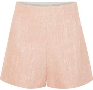 Vanessa Bruno Huguet Herringbone Tweed Shorts - Blush