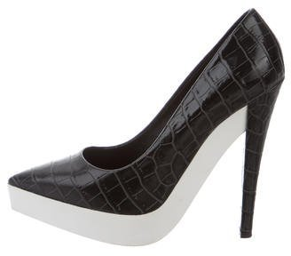 Stella McCartney Embossed Platform Pumps