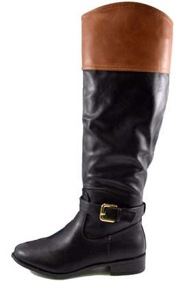 Bamboo Two-Tone Buckle Boot $41.99 thestylecure.com