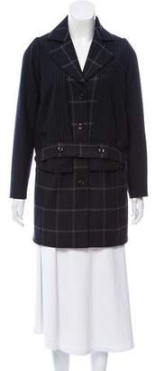 Marissa Webb Patterned Wool Coat