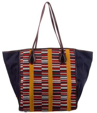 MZ Wallace Patterned Leather-Trimmed Tote