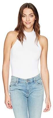Enza Costa Women's Sleeveless Mock Neck Bodysuit