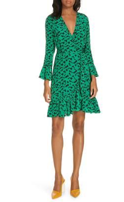 Tanya Taylor Nomi Vines Silk Wrap Dress