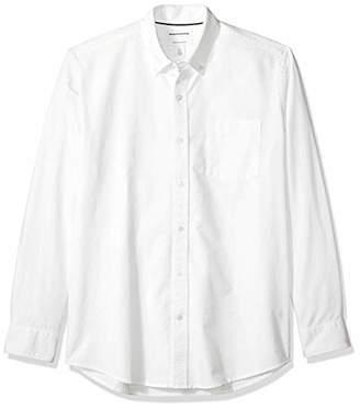 Amazon Essentials Men's Regular-Fit Long-Sleeve Solid Pocket Oxford Shirt