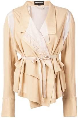 Ann Demeulemeester lightweight blazer with layers