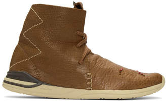 Visvim Brown Huron Moc High-Top Sneakers