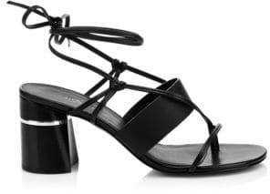 3.1 Phillip Lim Women's Drum Strappy Leather Mules - Black - Size 36 (6)