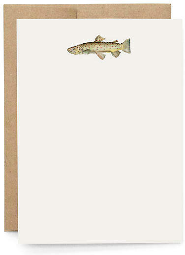 Set of 10 Trout Note Cards