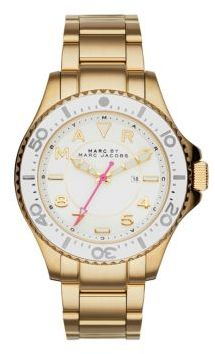 Marc by Marc Jacobs Dizz Sport Goldtone Stainless Steel Bracelet Watch $275 thestylecure.com